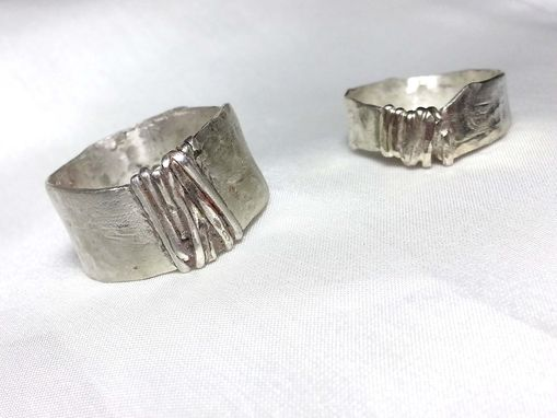 Custom Made Sterling Silver Band - The Road Less Traveled