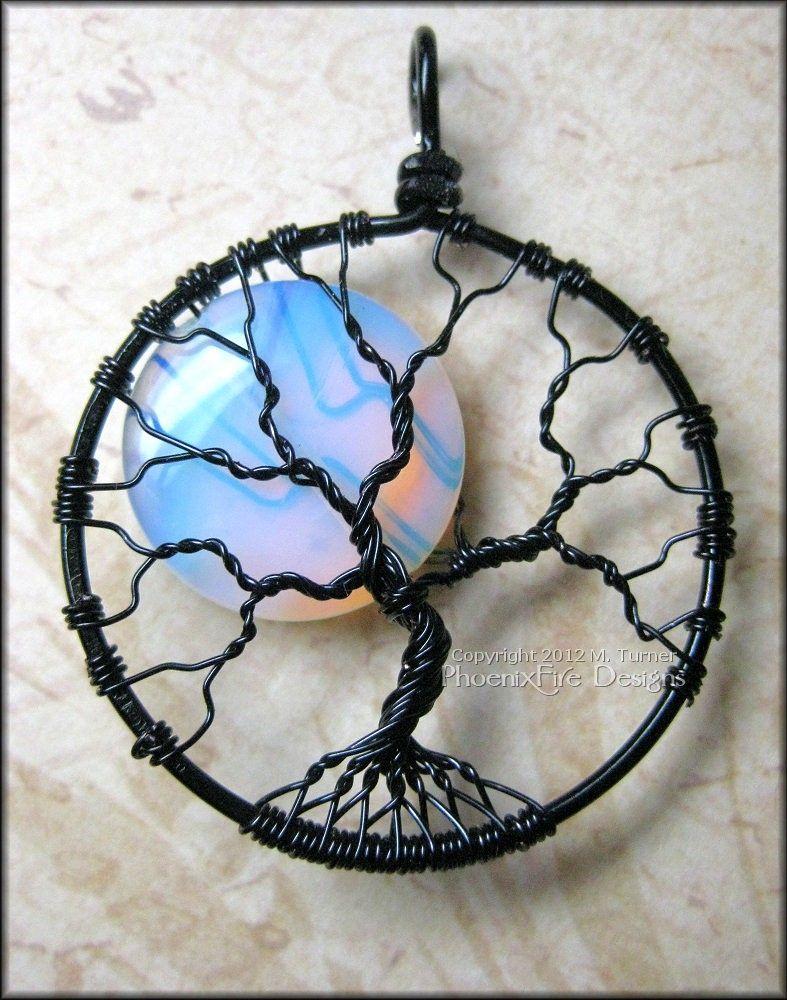 Custom Made Rainbow Moonstone Full Moon Tree Of Life