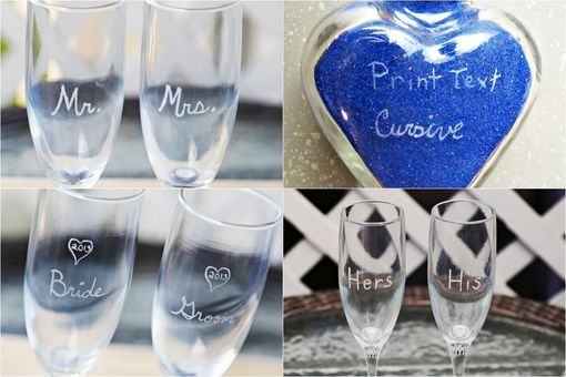 Custom Made Oval Vase Unity Sand Ceremony Set With Charm, Tray And Shadow Box Display Frame