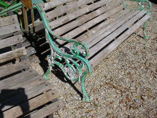 Custom Made Sold 5' Victorian Garden Bench Heavy And Very Old!