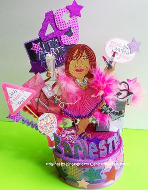 Custom Made Women Look Alike 40th 50th 60th Birthday Cake Topper
