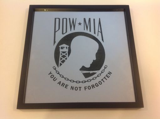 "Custom Made Laser Engraved 12"" Mirror With Personalization"
