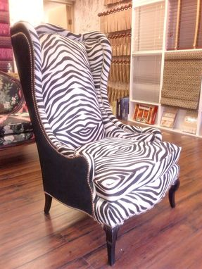 Custom Made Zebra Wing Chair