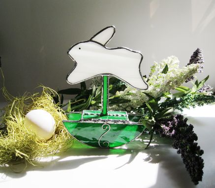 Custom Made Rocking Bunny In 3d Stained Glass