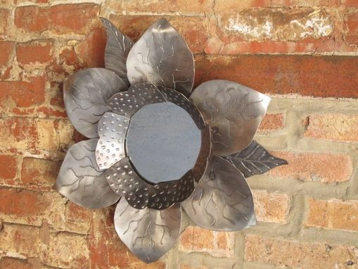 Custom Made Petals To The Metal Flower Mirror