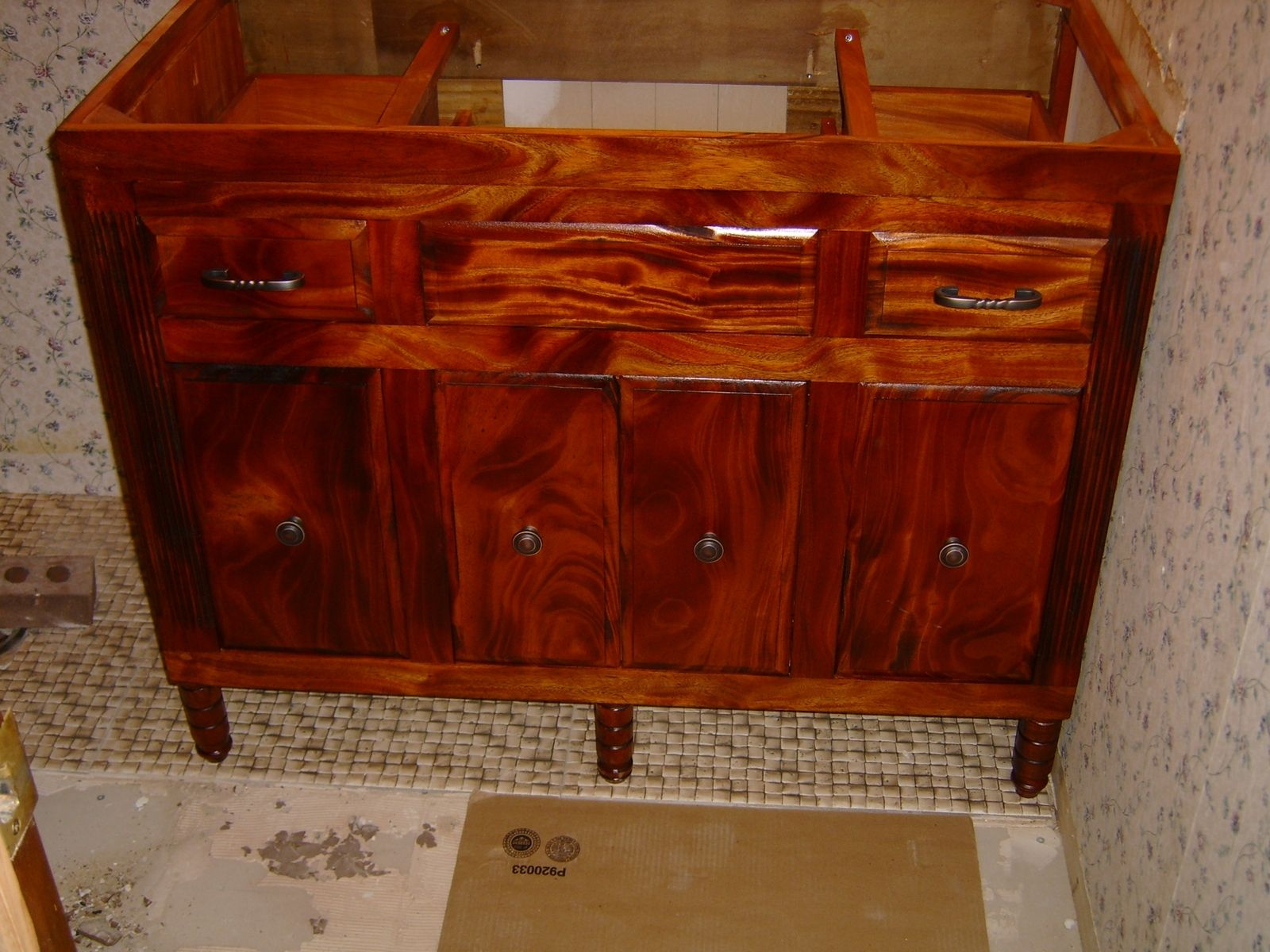 Hand Made African Mahogany Vanity By Design47 Custommade Com