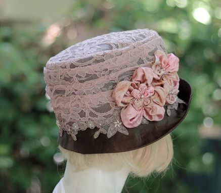 Custom Made Custom Order For Jacque  Lace Covered Riding Hat