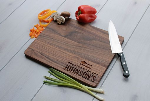 Custom Made Personalized Cutting Board, Cutting Board, Wedding Gift – Cb-Wal-Cooking With The Johnsons Family