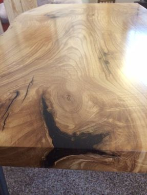 Custom Made Ash Live Edge Writing Desk