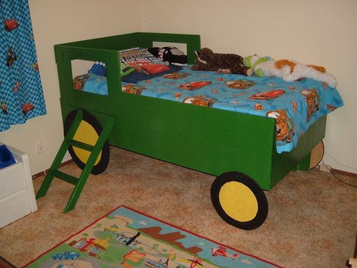 Custom Made Child's Tractor Bed