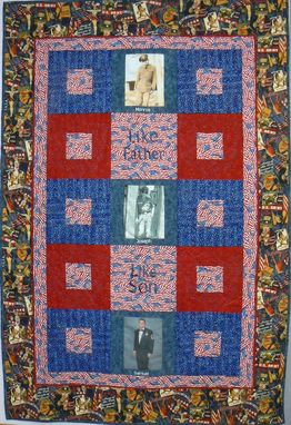 Custom Made Custom Military Tribute Custom Photo Quilt