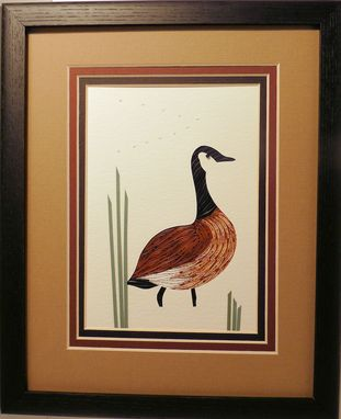 Custom Made Ducks - Wood Duck Quilled And Framed Wall Art New Hampshire Ducks