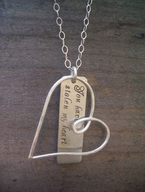Custom Made Sterling Silver Heart Custom Necklace