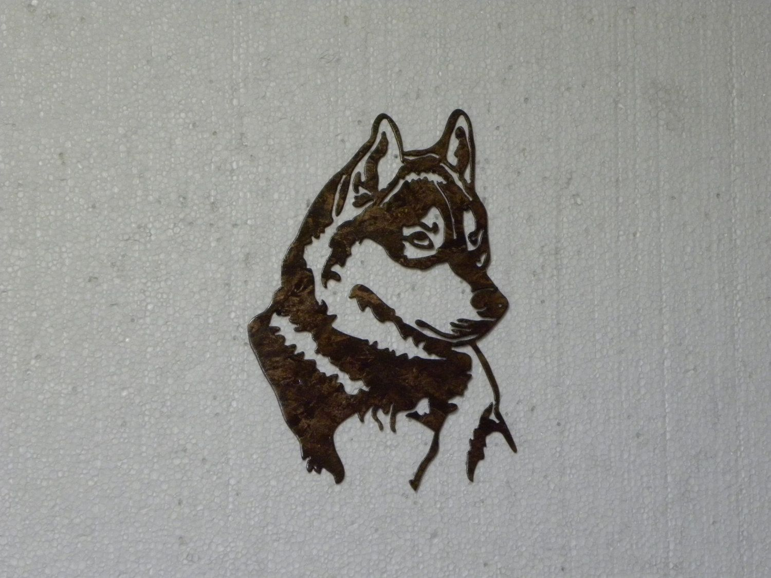 Hand Crafted Siberian Husky Head Metal Wall Art Home Decor By Say It All On The Wall