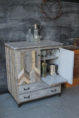 Custom Made Reclaimed Wood Merry Maker Bar Cart