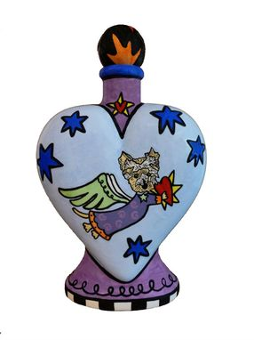 Custom Made Heavens Best Dog Heart Vase Urn