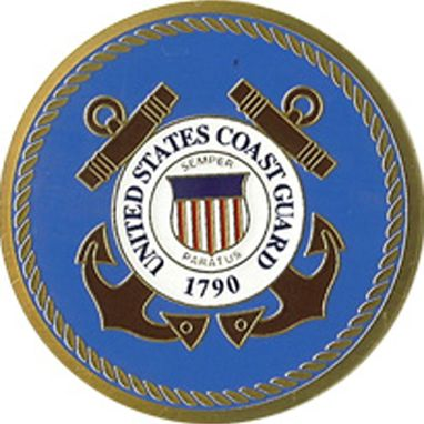 Custom Made Coast Guard Color Medallion