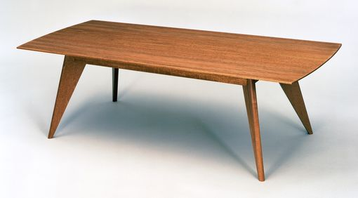 Custom Made Modern Coffee Table In Mahogany