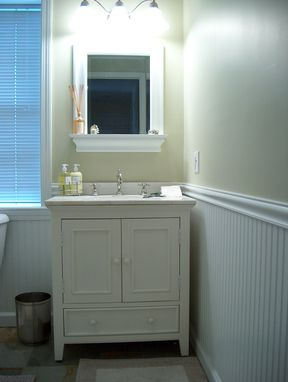 Custom Made Victorian Vanity & Mirror