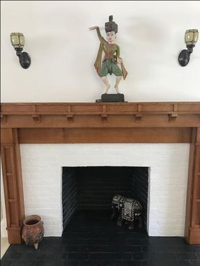 Custom Made Quarter Sawn White Oak Fireplace Surround