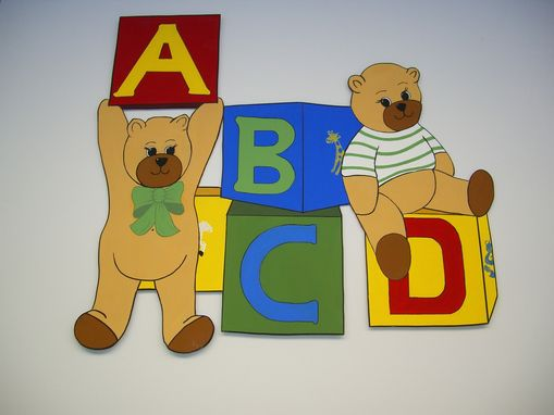Custom Made Teddy  Bear Blocks