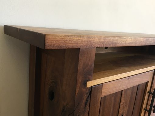 Custom Made Walnut Side Table With Organization