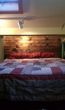 Custom Made Salvaged Pine Headboard