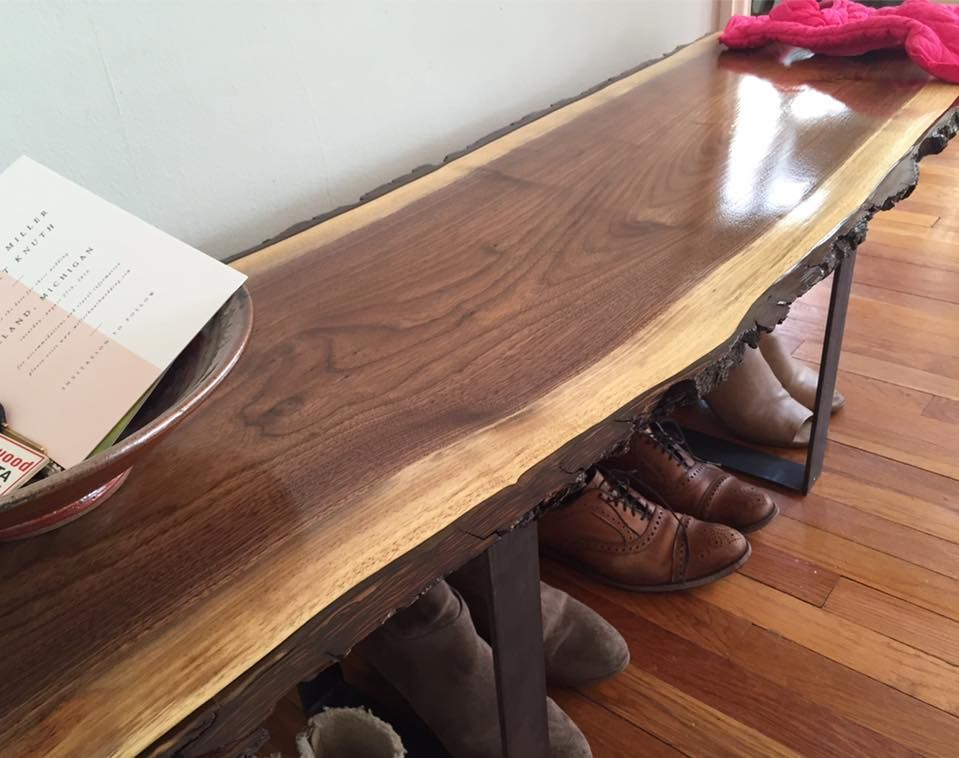 Buy A Custom Live Edge Black Walnut Bench Made To Order
