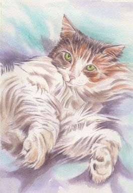 Custom Made Custom Watercolor Portrait Or Pet Portrait From Your Photo