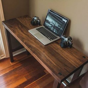 Modern Walnut Computer Desk by TJ Collins