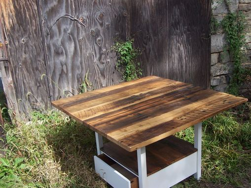 Buy a Handmade Reclaimed Wood Kitchen Table With Storage Base ...