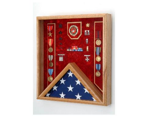 Custom Made Marine Corps Flag Display Case - Shadow Box