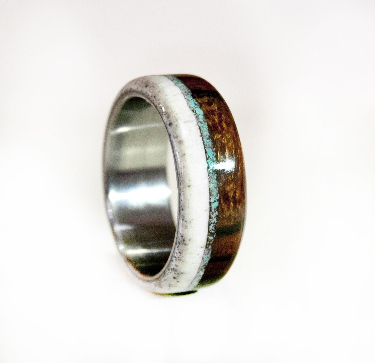 Titanium Ring Turquoise Ring Wedding Ring Mens Ring Womens