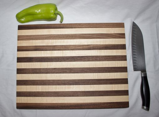 Custom Made Butcher Block, Cutting Board, End Grain, Walnut & Rock Maple