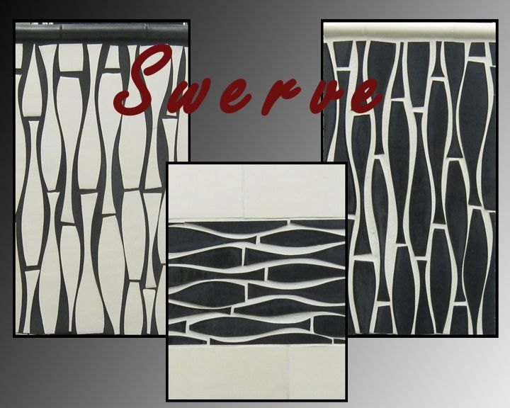 tile bathroom designs pictures custom made quot swerve quot mid century cool tile by bonton 20810