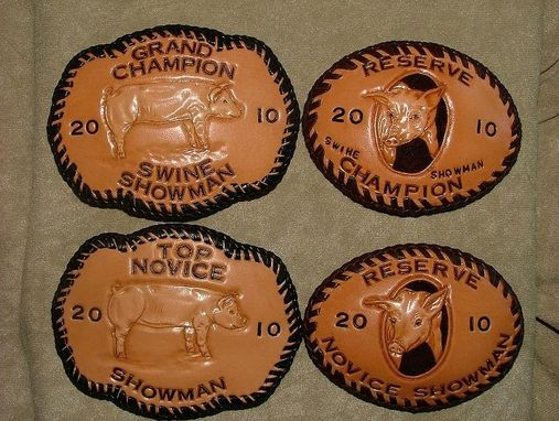 Custom Made Leather Trophy Buckles