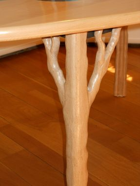 Custom Made Maple Dining Table With Flowing Patterns Inspired By Nature