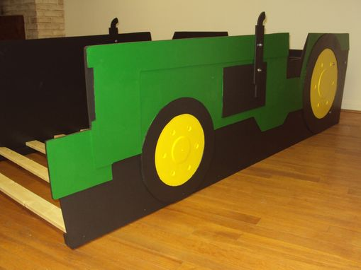 Buy A Handmade Tractor Twin Kids Bed Frame Handcrafted Farm Classy Tractor Themed Bedroom