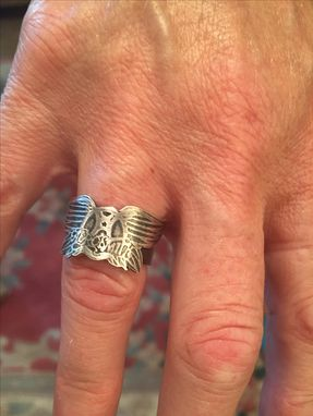 Custom Made Aerosmith Sterilng Silver Ring