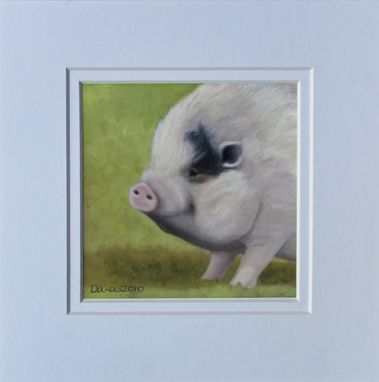 Custom Made Animal Art Print - Potbellied Pig Fine Art Giclee - Teacup Pig- Miniature Pig-Potbelly Pig