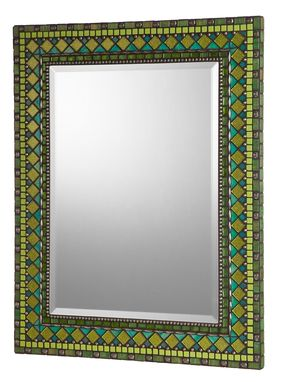 Custom Made Glass Mosaic Wall Mirror - Heirloom Collection