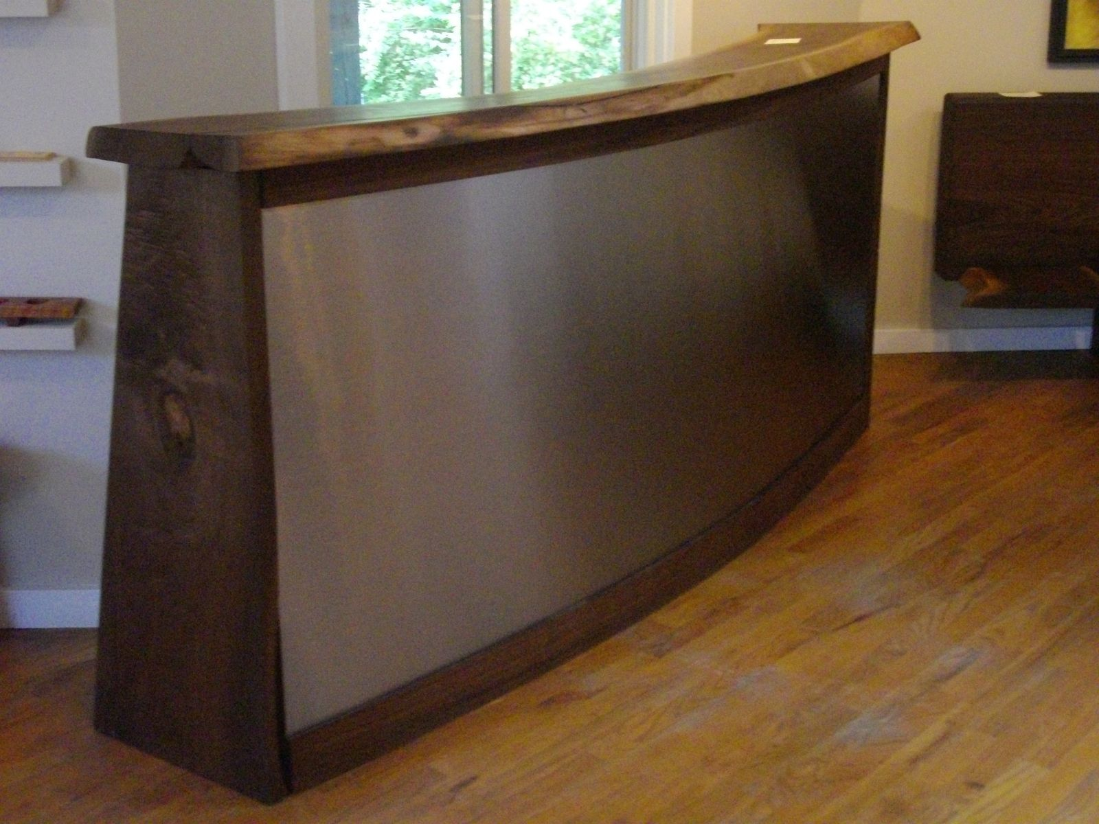 Custom Made Walnut And Stainless Steel Bar By Peter