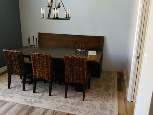 Custom Made Alder Wood Bench Seat To Match Reclaimed Russian Oak Dining Table.