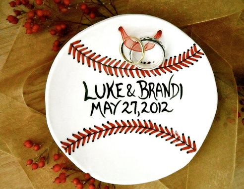 Custom Made Ceramic Pottery Personalized Ring Bearer Bowl