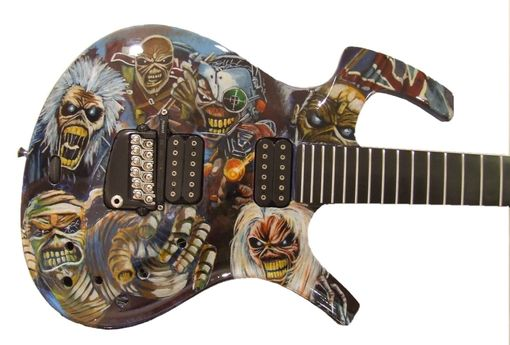 hand made electric guitars custom painted by banksville79