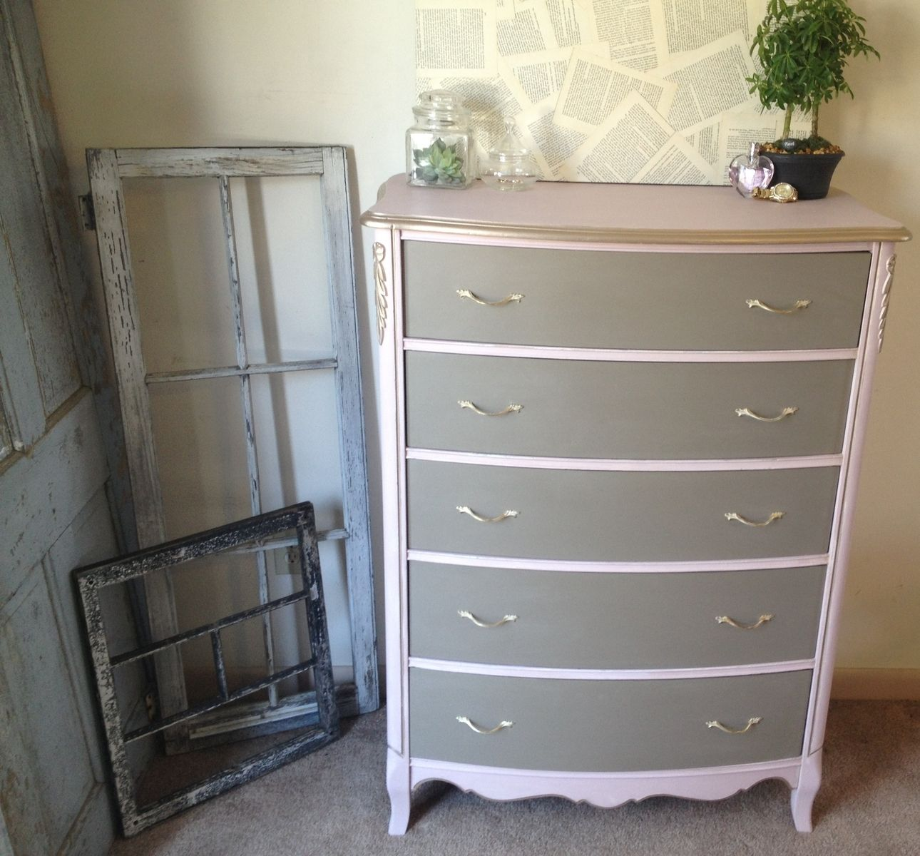 Painted French Provincial Bedroom Furniture Hand Made Vintage French Provincial Tall Dresser Pink And Coco By