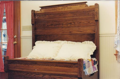 Custom Made Hand-Carved Bed