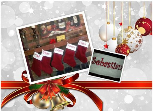 Custom Made Set Of 5 Traditional Heirloom Velvet Christmas Stockings, Large Stockings, Christmas Santa Boot
