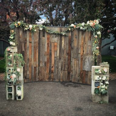 Custom Made Wood Wall Wedding Backdrop