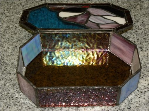 Custom Made Stained Glass Jewelry Box